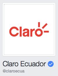 Facebook Claro Ecuador