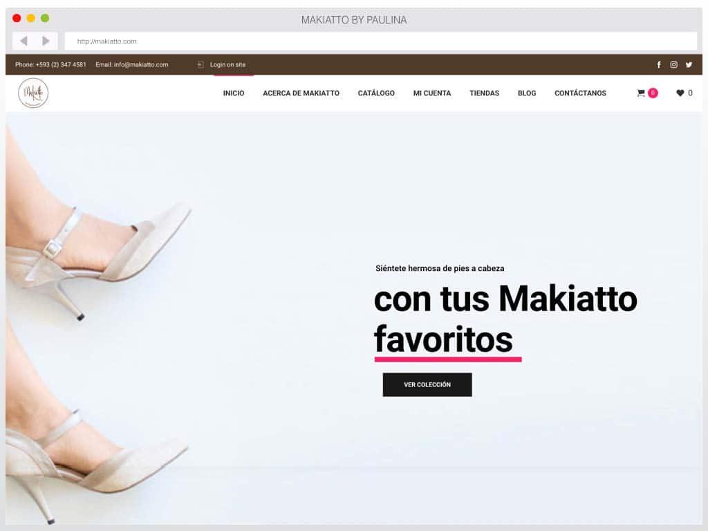 Diseño de página web ecuador: Makiatto by Paulina